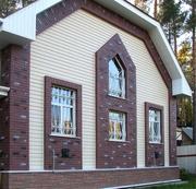 Облицовка фасадов сайдингом или кирпичом.